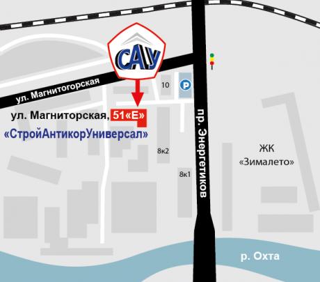 Анимированная  схема проезда к офису